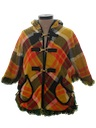 Womens Reversible Mod Poncho Jacket