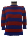 Womens Totally 80s Sweater Knit Shirt