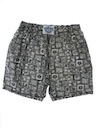 Mens Totally 80s Baggy Print Pants Style Shorts