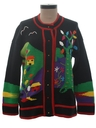 Womens Kitschy Cheesy Ugly Sweater