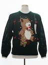 Unisex Multicolor Lightup Hand Embellished Ugly Christmas Vintage Sweater