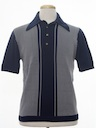 Mens Mod Banlon Knit Shirt