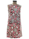 Womens Mod Flower Power Dress