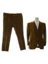 Mens Velveteen Suit