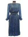 Womens Silk Totally 80s Dress
