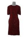 Womens Totally 80s Sequined Cocktail Dress
