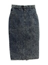 Womens Totally 80s Acid Washed Jean Skirt