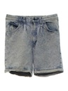 Unisex Totally 80s Acid Washed Jeans Shorts