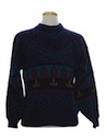 Mens Totally 80s Cosby Style Sweater