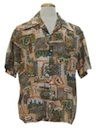Mens Disco Style Hawaiian Shirt