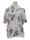 Mens Resort Wear Style Print Disco Shirt