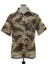 Mens Hawaiian Style Print Disco Shirt