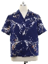 Mens Mod Hawaiian Style Sport Shirt