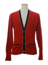 Mens Cardigan Golf Sweater