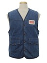 Mens Denim Work Vest