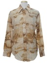 Mens Photo Print Disco Style Shirt
