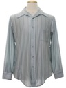Mens Print Slinky Nylon Disco Shirt
