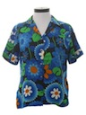 Womens Mod Pow-Flower Shirt