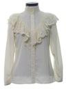 Womens Ruffled Victorian Style Prairie Hippie Shirt