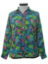 Womens Pow-Flower Hippie Shirt