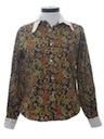 Womens Paisley Hippie Shirt