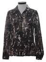 Womens Western Style Print Disco Shirt