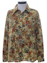 Womens Hippie Print Disco Shirt
