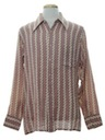 Mens Print Cotton Blend Disco Style Sport Shirt