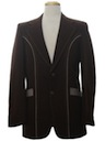 Mens Western Disco Blazer Sport Coat Jacket