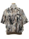 Mens Resort Wear Style Print Totally 80s Shirt