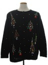 Womens Beaded Ugly Christmas Cocktail Sweater