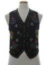 Womens Ugly Christmas Beaded Cocktail Sweater Vest