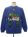 Unisex Hand Embellished Ugly Christmas Sweatshirt