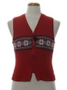 Womens or Girls Minimalist Ugly Christmas Sweater Vest
