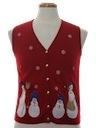 Womens Ugly Christmas Sweatshirt Vest