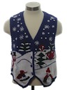 Unisex Ladies or Boys Ugly Christmas Sweater Vest