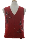 Womens Minimalist Ugly Christmas Sweater Vest