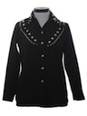 Womens Studded Western Leisure Shirt Jacket