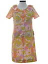 Womens Mod Pow-Flower A-line House Dress