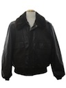 Mens Leather Flight Bomber Style Jacket