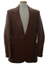 Mens Leather Western Style Blazer Sport Coat Jacket