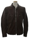 Mens Mod Leather Cafe Racer Style Jacket