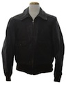 Mens Leather Bomber Style Jacket