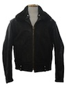 Mens Leather Police Motorcycle Biker Jacket