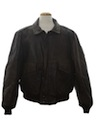 Mens Indiana Jones Style Leather Aviator Jacket