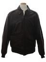 Mens Leather Aviator Style Bomber Jacket