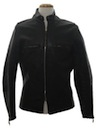 Mens Cafe Racer Style Leather Motorcycle Jacket