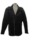 Mens Totally 80s Leather Motorcycle Style Jacket
