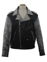 Mens Punk Rock Style Leather Motorcycle Jacket