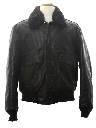 Mens Aviator Style Leather Jacket